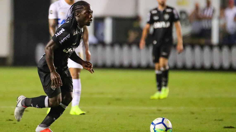 Yimmi Chará actuando con el Atlético Mineiro.