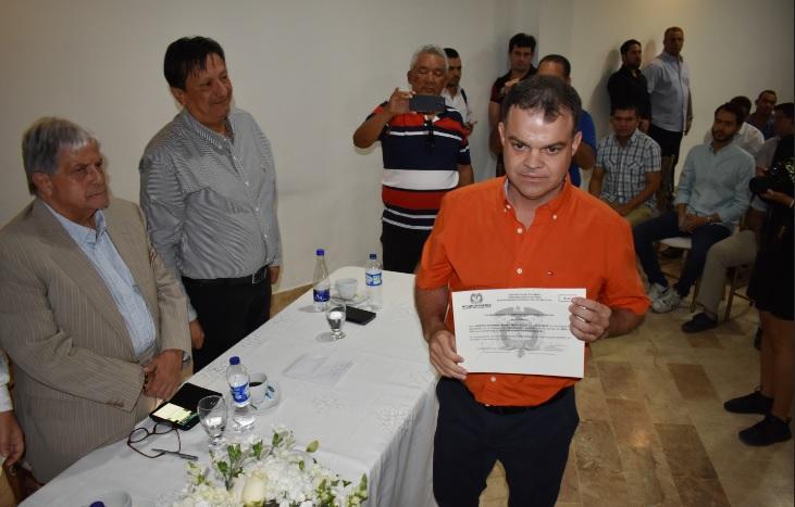 Alcalde electo de Sincelejo, Andrés Gómez, recibió su credencial - El Heraldo (Colombia)