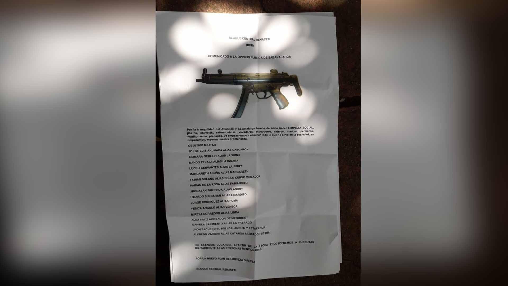 Policía Deata verifica legitimidad de panfleto en Sabanalarga - El Heraldo (Colombia)