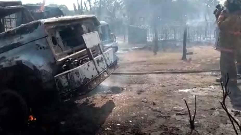 Resultado de imagen para se incendió una gandola mientras descargaba gasolina en maicao brasil