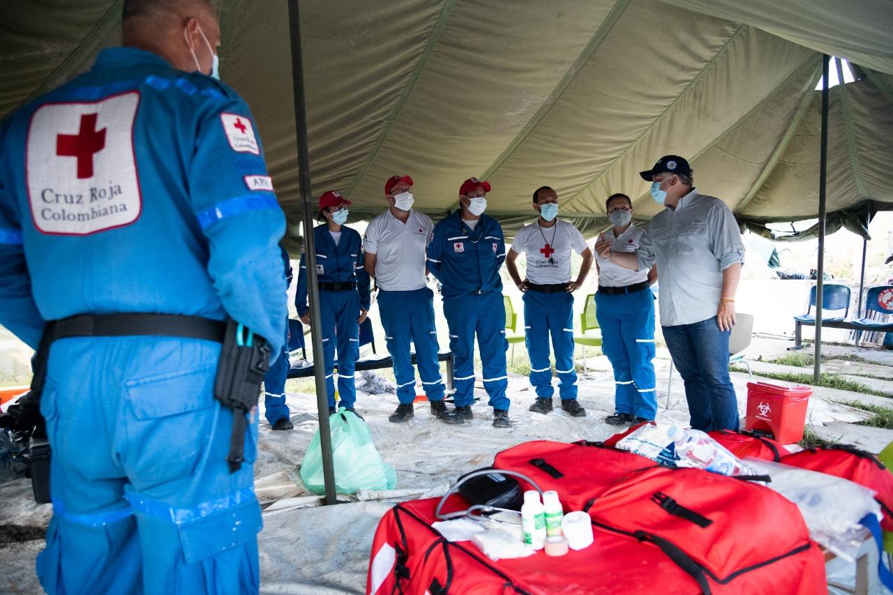 Instalan hospital de campaña en Providencia | El Heraldo