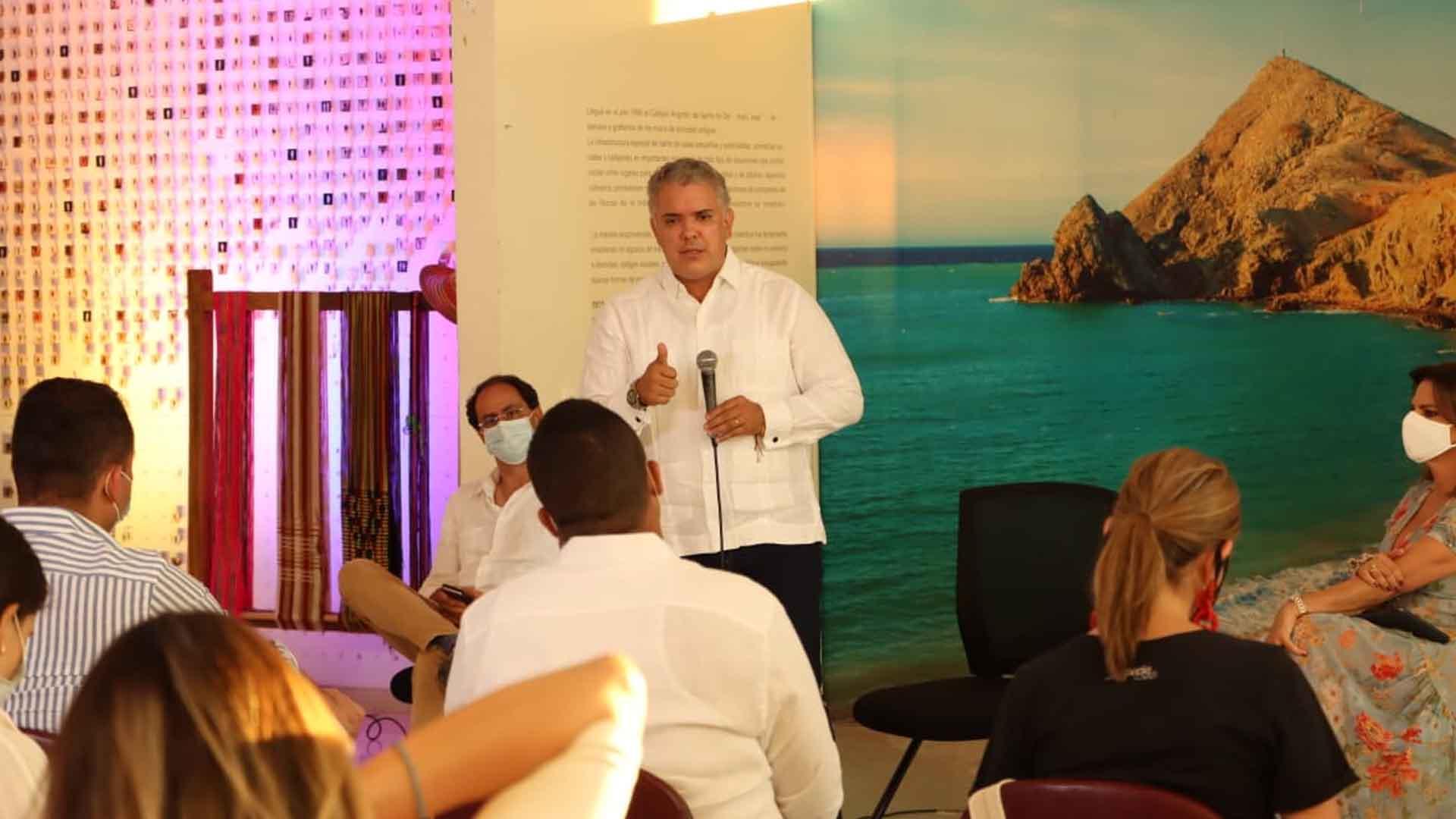 Resultado de imagen de El Presidente Duque lanzó los Proyectos Turísticos Especiales (PTE)