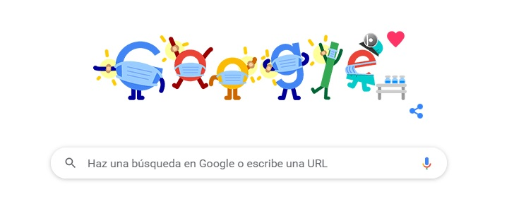 Google dedica su doodle a la prevención de la covid-19