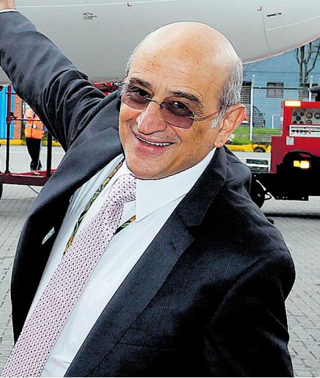 Germán Efromovich, presidente de Avianca.