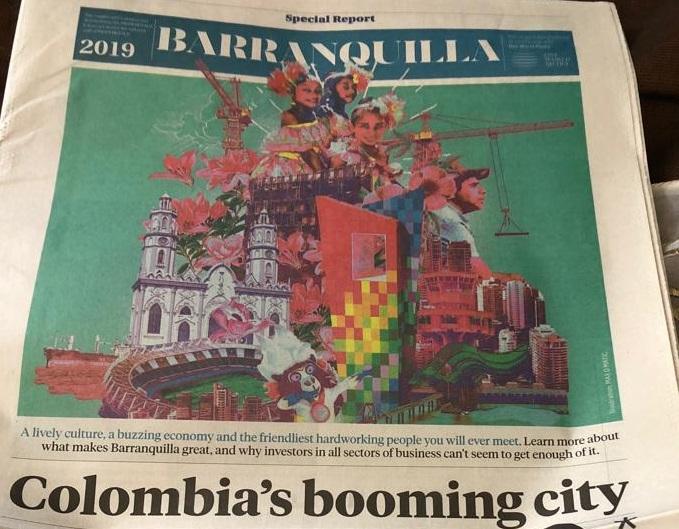 La publicación sobre Barranquilla realizada por el Miami Herald.