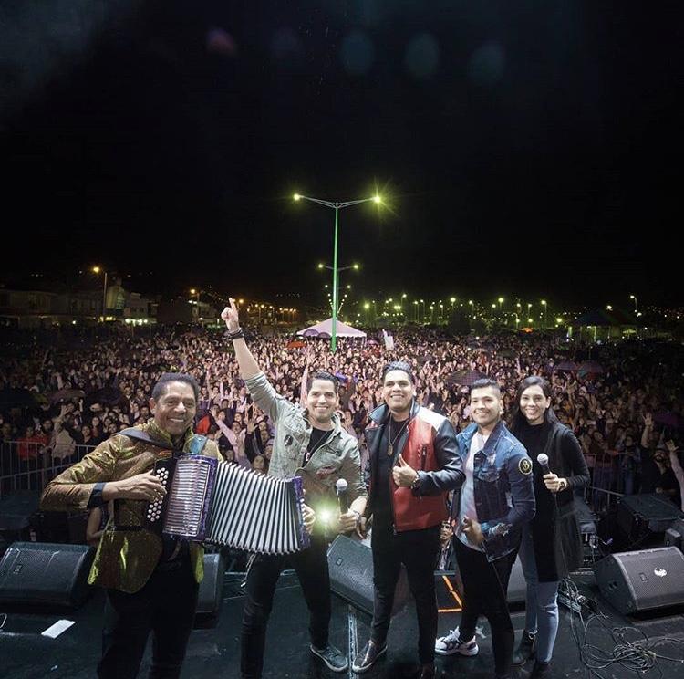 La agrupación vallenata tuvo una velada exitosa en Ibarra, Ecuador.