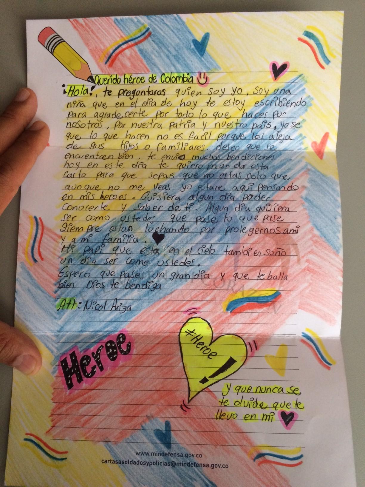 Con Cartas Niños Del Atlántico Expresan A Soldados Que