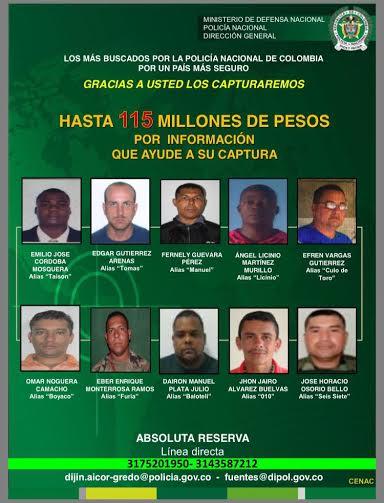 Fotos de los colombianos mas buscados 3