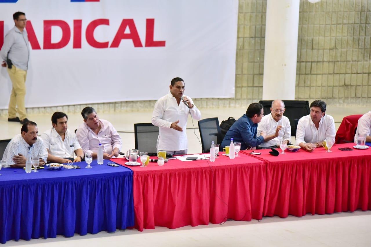 Reunión de Cambio Radical de este viernes en Valledupar liderada por su jefe de la colectividad Germán Vargas Lleras.