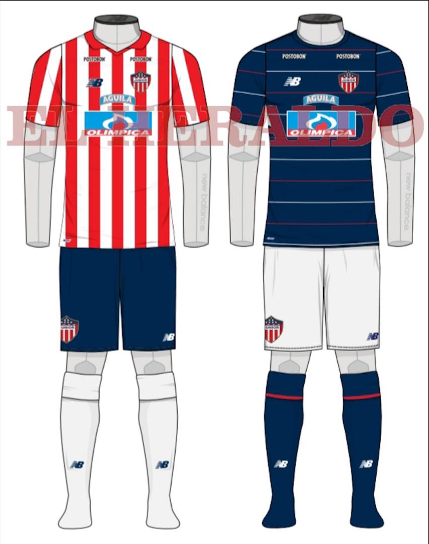 Los nuevos diseños de los uniformes de Junior que serán presentados mañana.