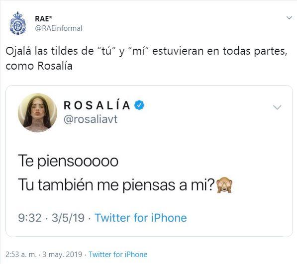 Rosalía fue corregida por la cuenta.
