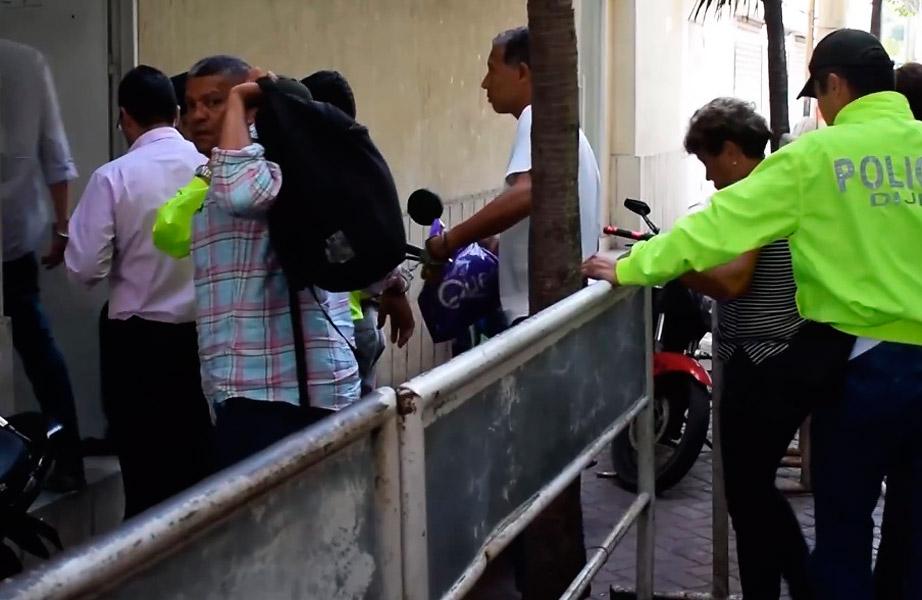 Varios de los capturados por el caso Corelca son custodiados por la Policía Nacional.