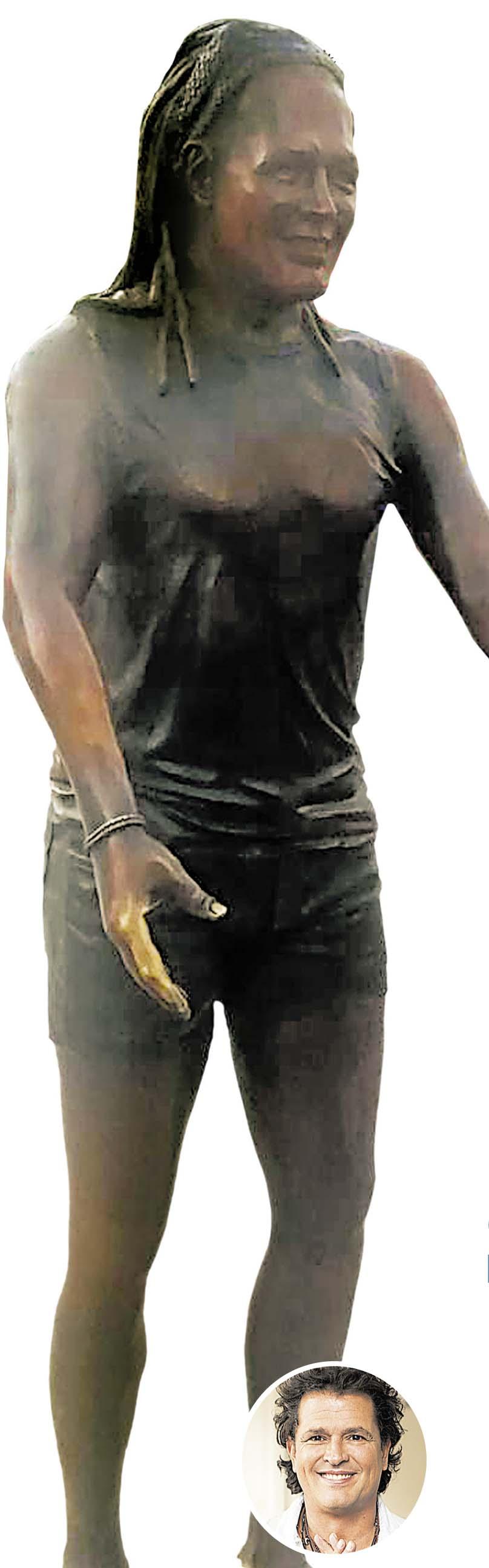 """Carlos Vives. La obra realizada por el artista plástico Edward Barrera ha generado una reciente polémica debido a supuestos """"rasgos femeninos"""" en la imagen."""