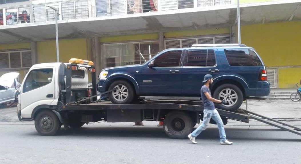 Digno Palomino conducía esta camioneta en Venezuela cuando fue capturado.