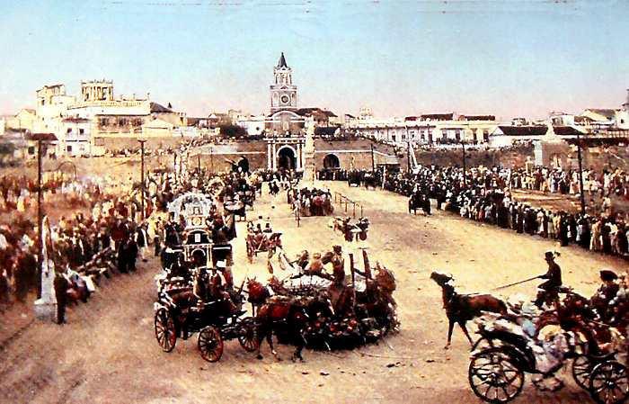 Vista de la Conmemoración del Centenario de la independencia de Cartagena, la cual se firmó en 1811.