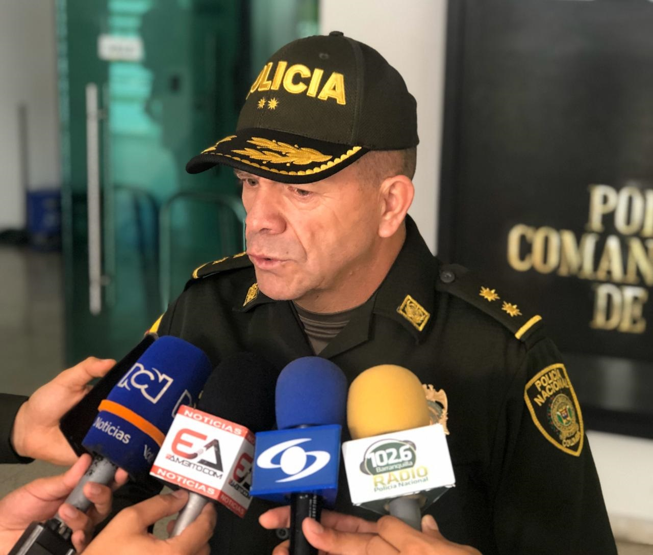 General Ricardo Alarcón, comandante de la Mebar.