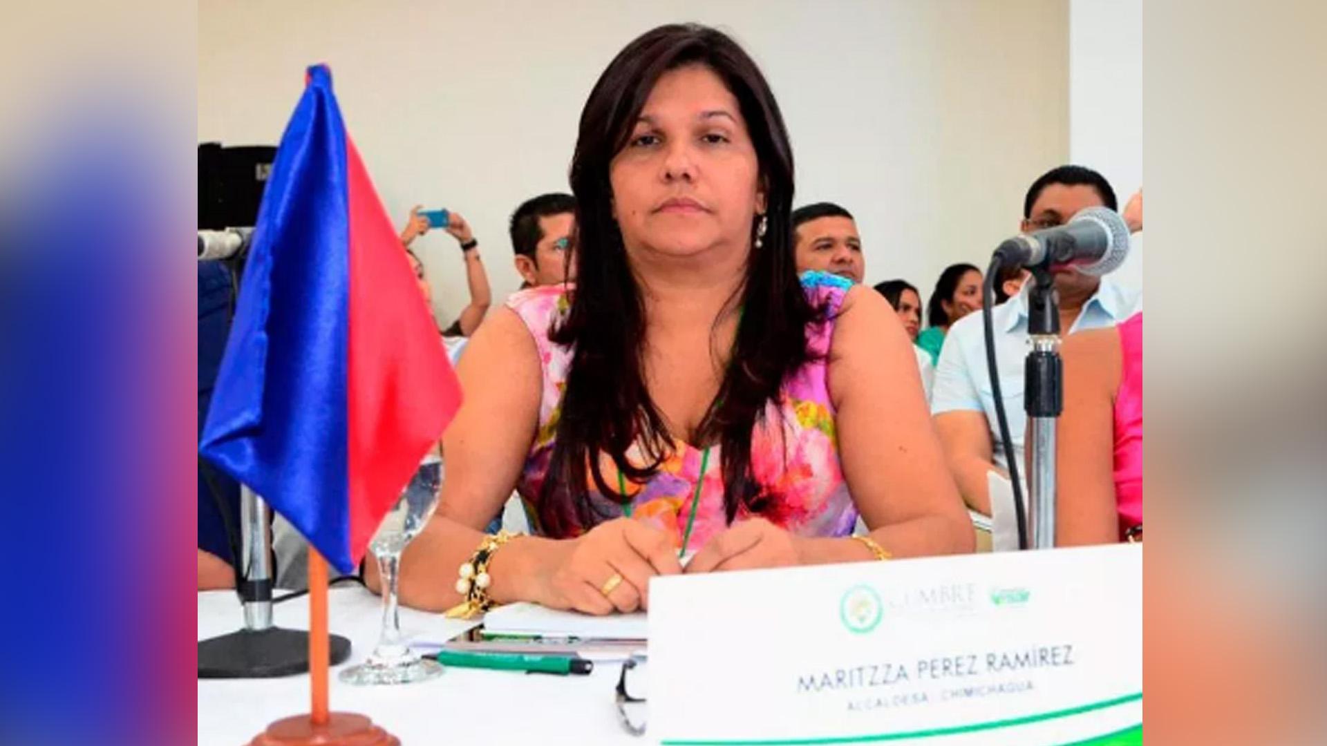 Maritza Pérez, alcaldesa de Chimichagua.