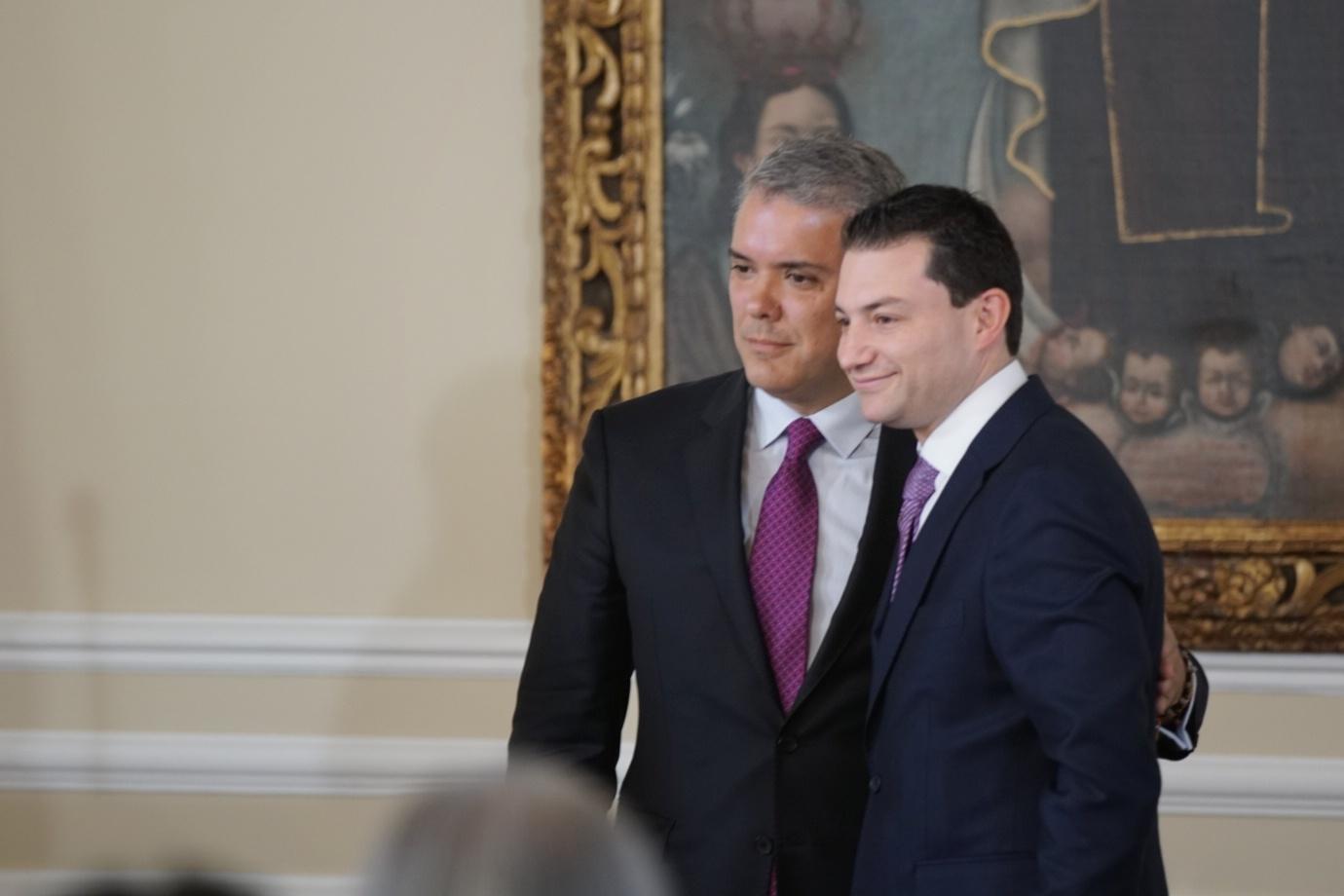 Posesión del nuevo Contralor General de la Nación, Carlos Felipe Córdoba en La casa de Nariño, llevada acabo por el Presidente Iván Duque.