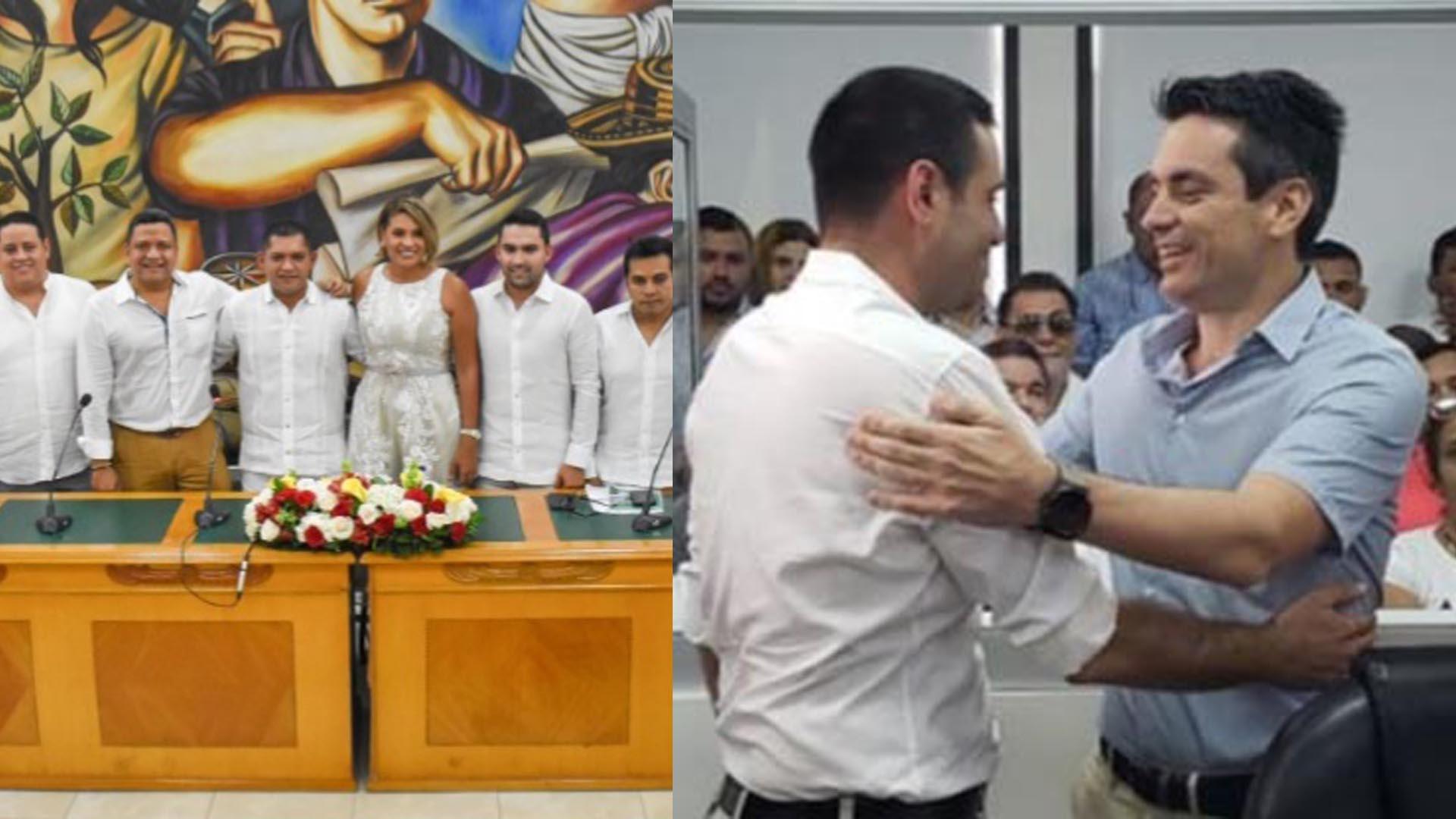 Integrantes de la Asamblea de Córdoba /El alcalde de Montería con el concejal Salin Ghisays.