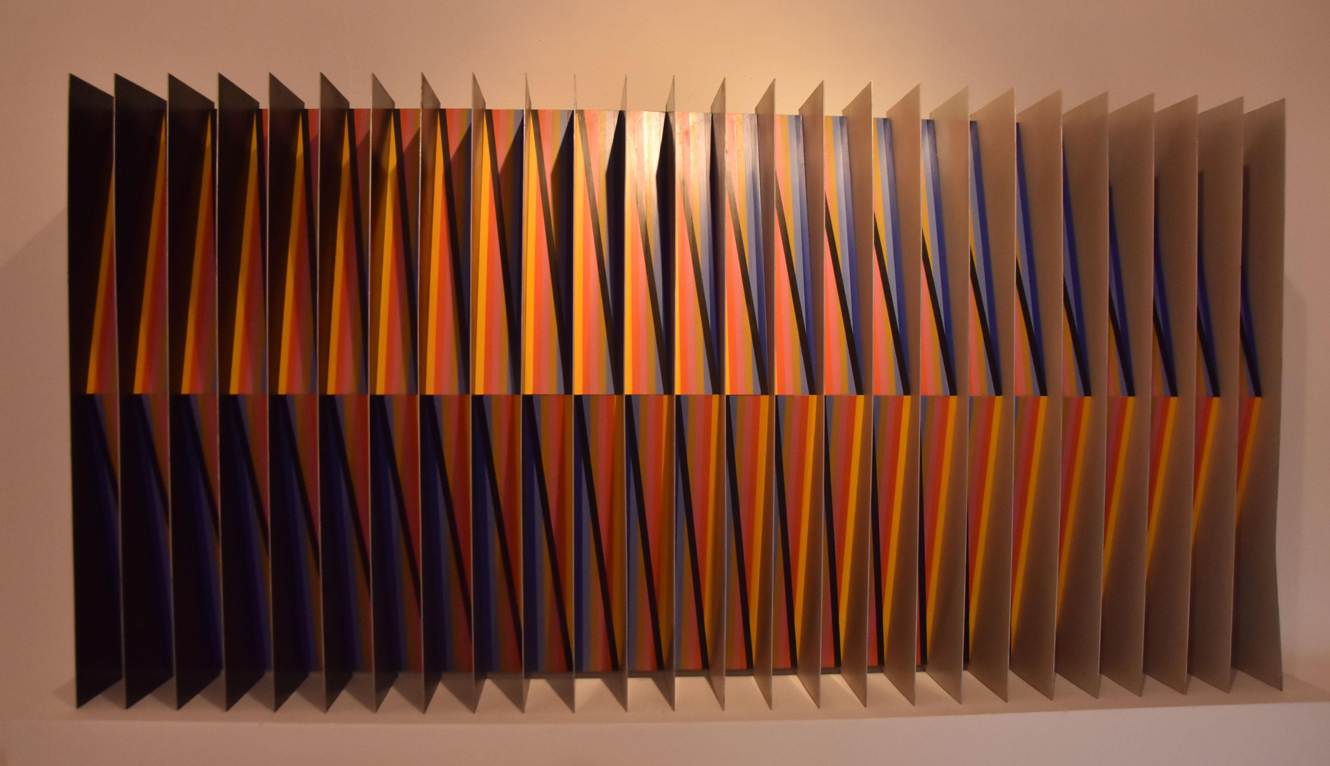 Obra 'Cromoestructura', de Cruz-Diez.