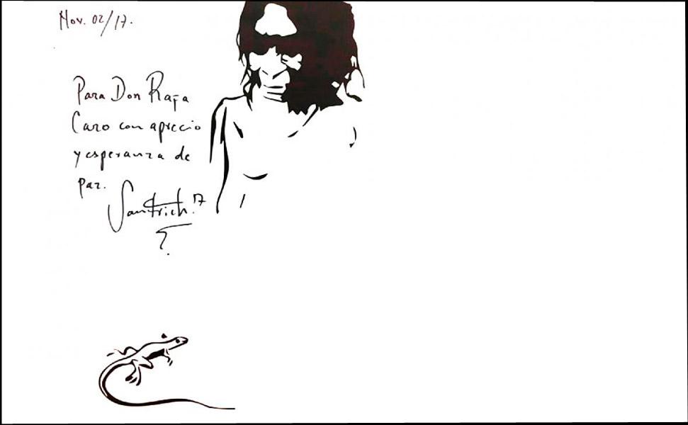 Este es el cuadro que alias Jesús Santrich habría pintado y regalado a Rafa Quintero, jefe del Cartel de Sinaloa.