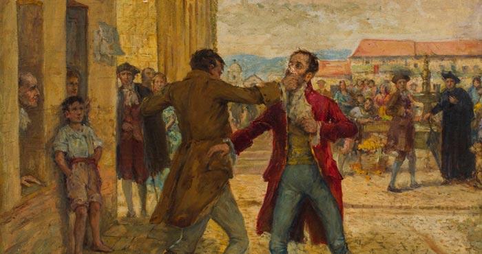 Cuadro de la Reyerta del 20 de Julio de 1810. Alcántara Quijano, Pedro.