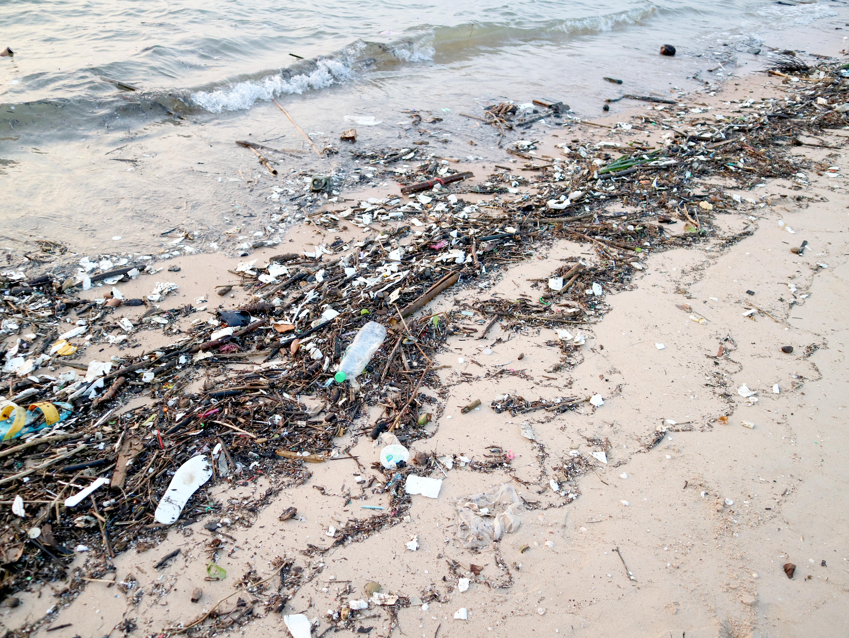 La basura dejada por turistas y visitantes de playas es uno de los factores contaminantes en los océanos.