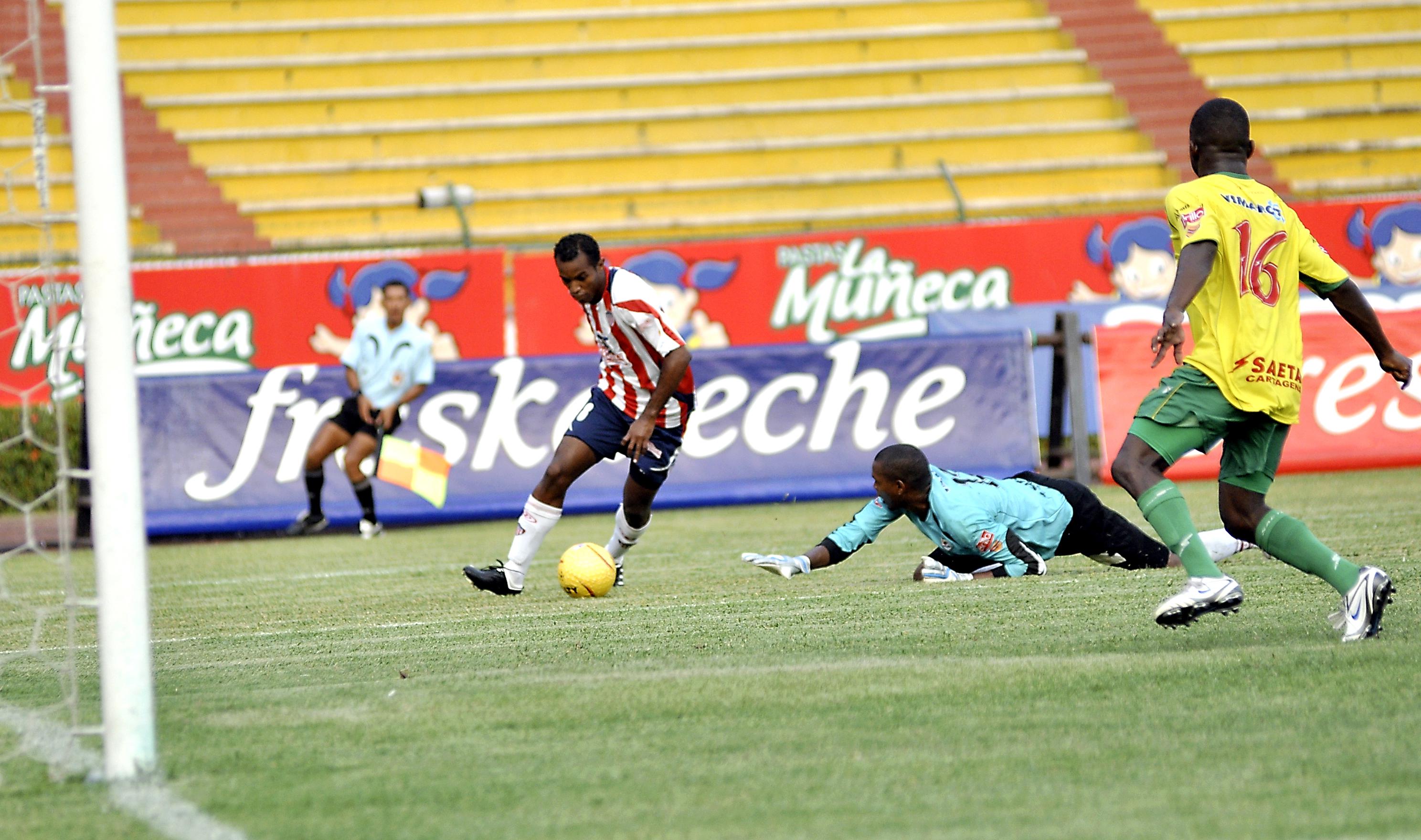 En un partido con el Junior ante el Real Cartagena.