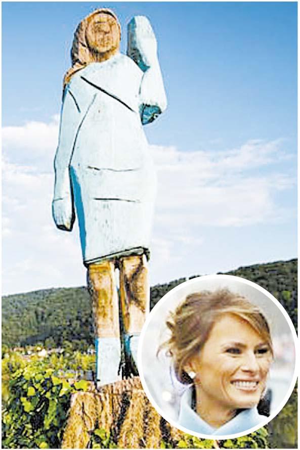 """Melania Trump. En su natal Sevnica generó burlas. Para el autor es """"absolutamente hermosa""""."""