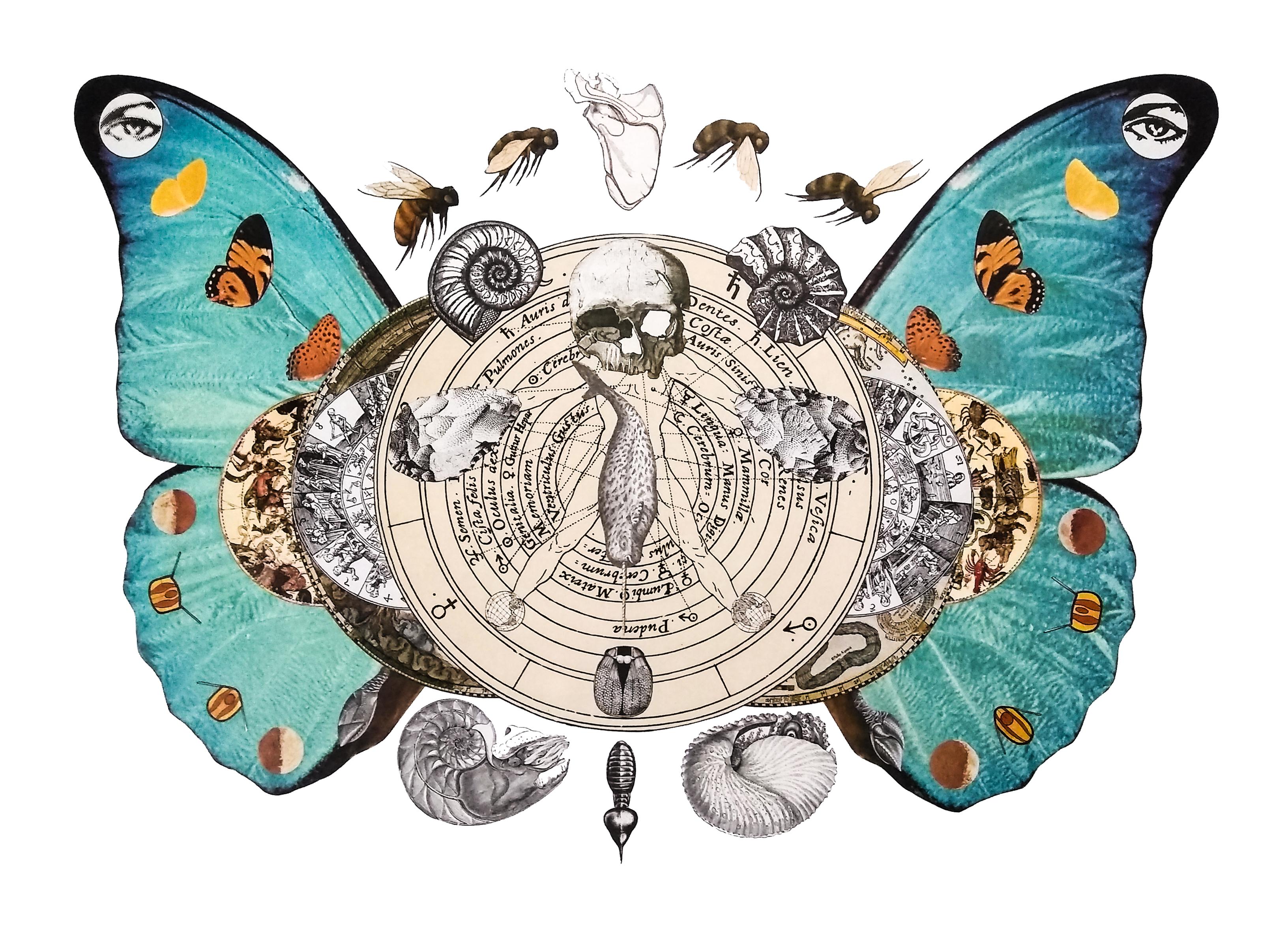 Collage de Rubén Barrios premiado en el Salón.