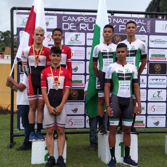 Atlántico, por equipos, gracias a  Kevin Pacheco, Jáider Montes y Miguel Jaramillo, logró la plata en la velocidad.