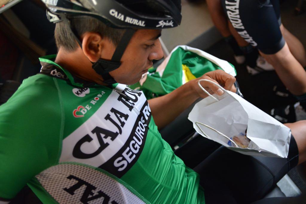 El ciclista barranquillero Nelson Soto antes de partir en la segunda jornada.
