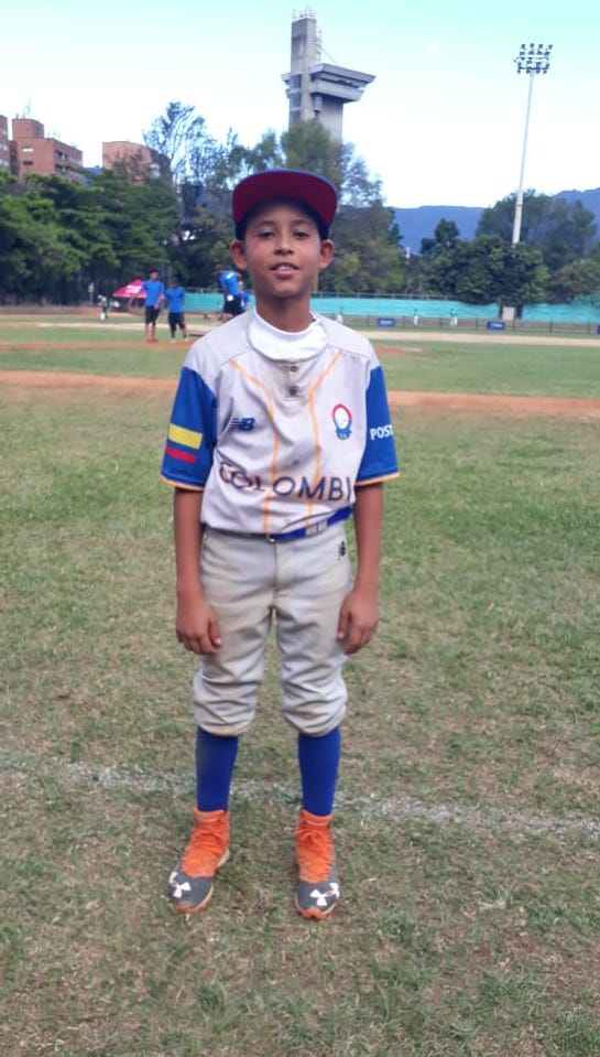 El pequeño Alan Angulo Puello, una de las figuras de Colombia.