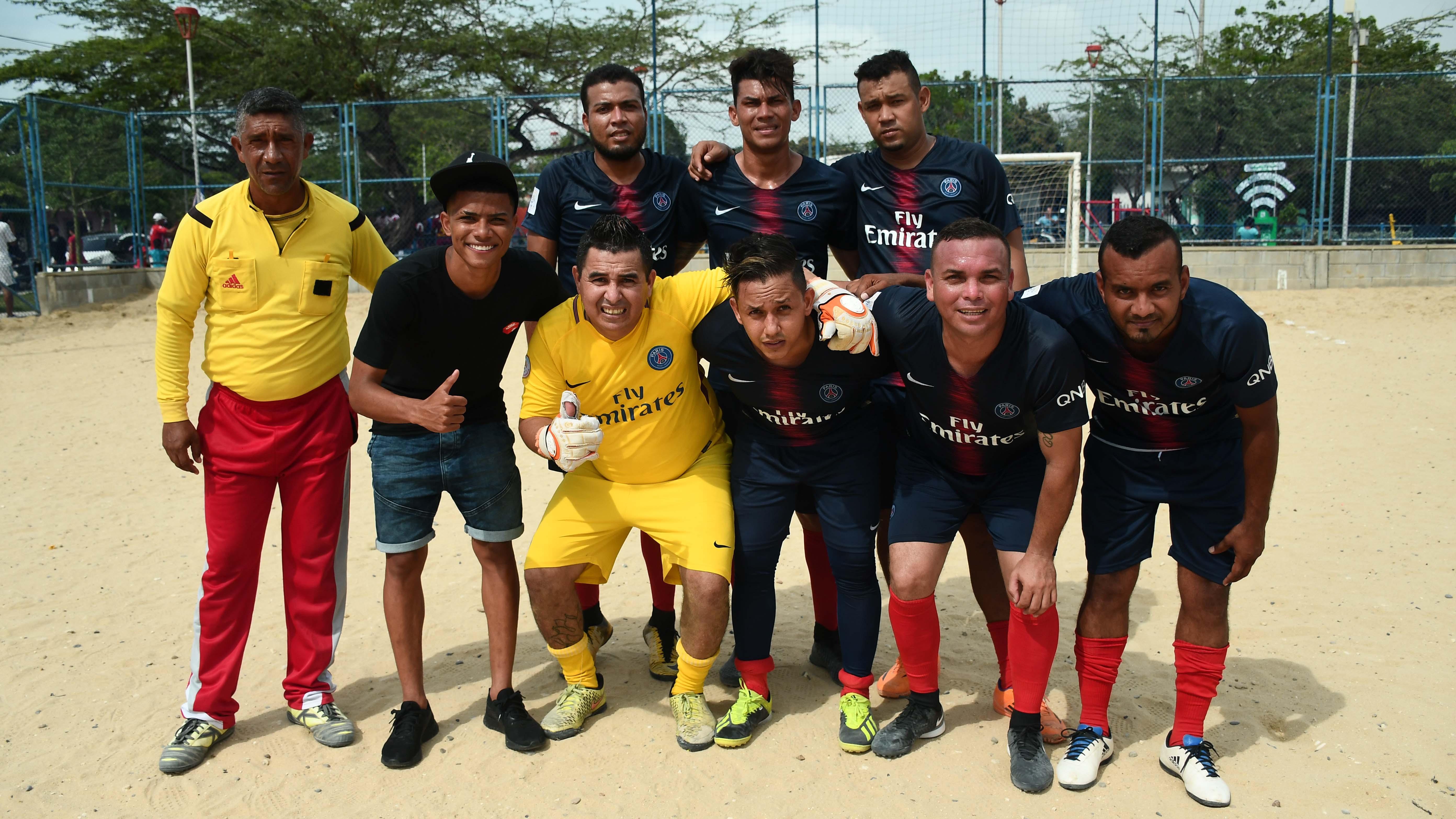Amigos, equipo que participa en el Torneo de La Manga.