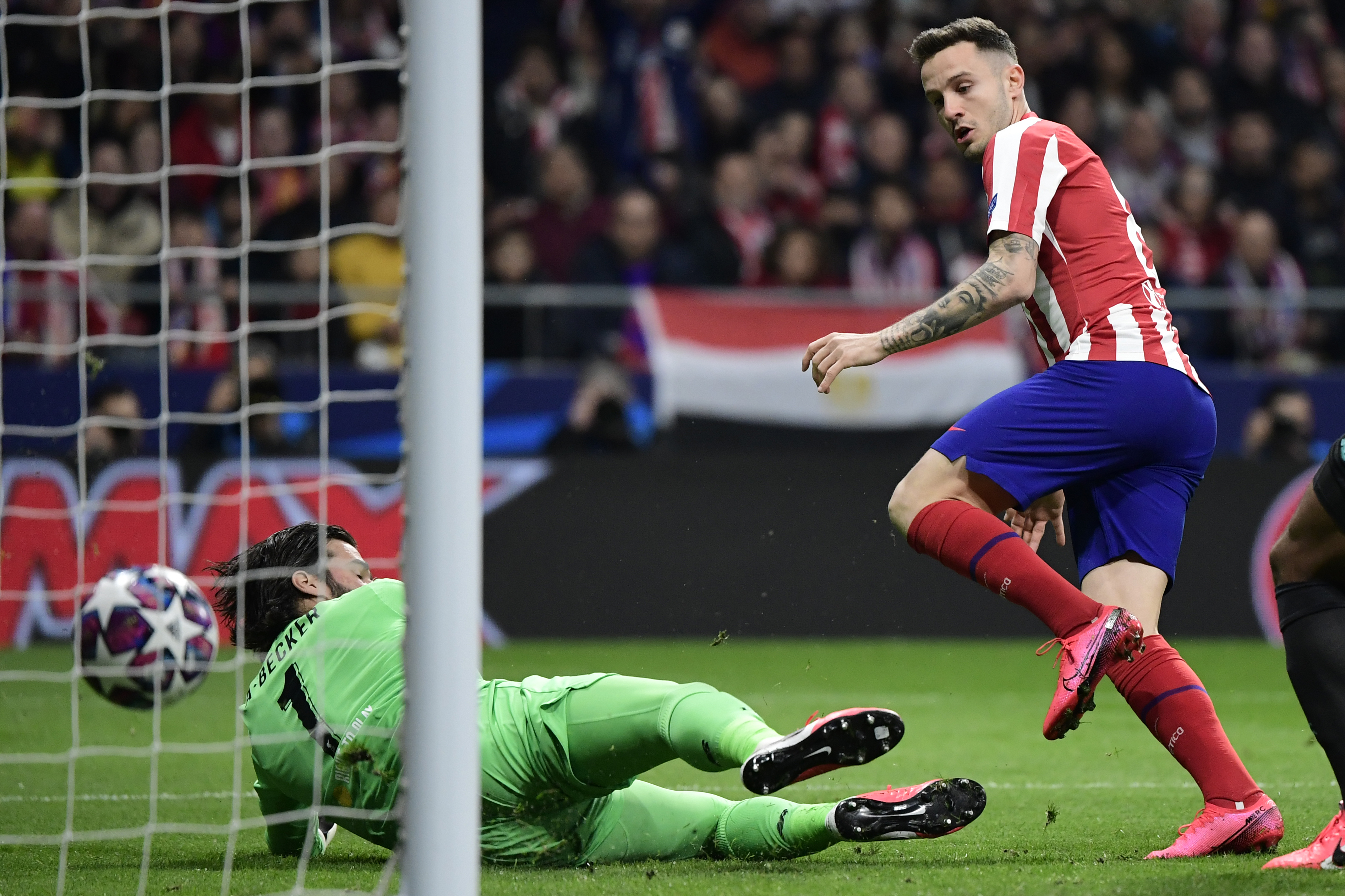 La definición de Saúl Níguez para marcar el único gol del partido.