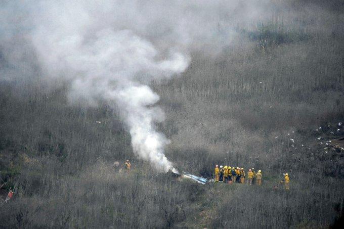 Imagen del lugar donde se accidentó el helicóptero en el cual viajaba Kobe Bryant junto a cuatro personas.