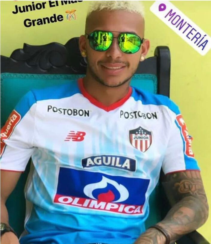Duván Vergara publicó en sus redes sociales una imagen en la que aparecía con la camiseta de Junior luego de la final ante Medellín a finales de 2018.