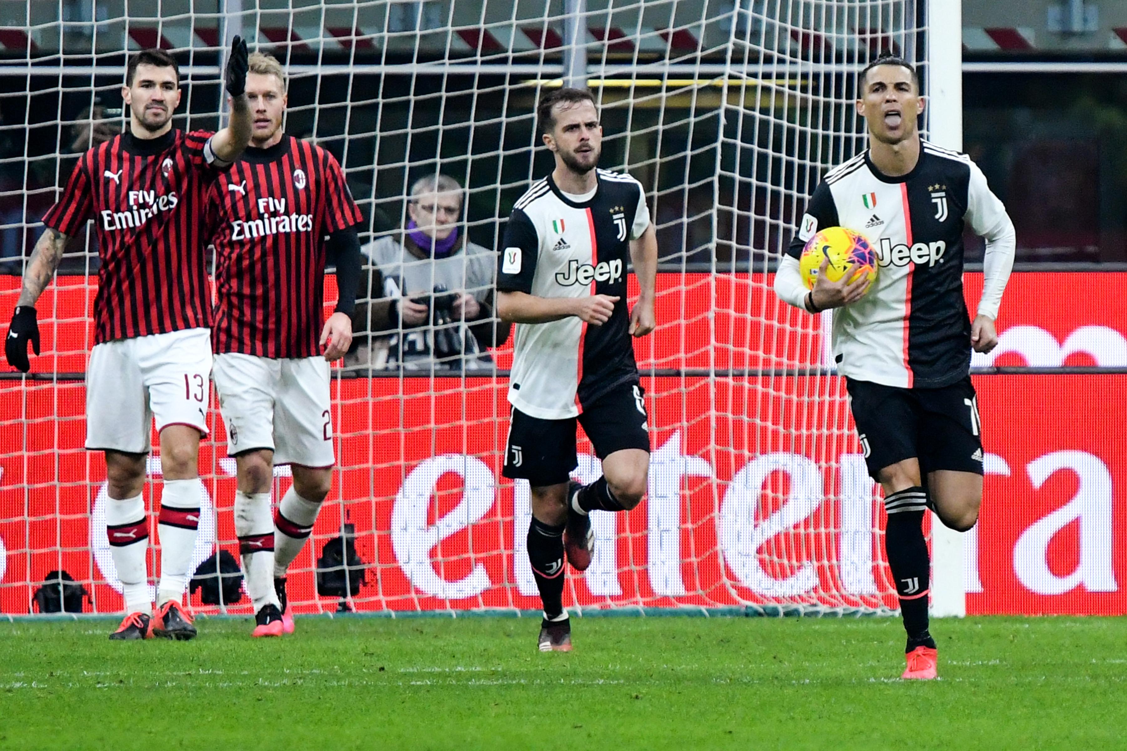 Cristiano Ronaldo tras anotar el gol del empate en un cobro de pena máxima.