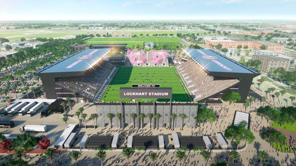 El Lockhart Stadium, escenario estadounidense donde se jugaría la Superliga de Colombia.
