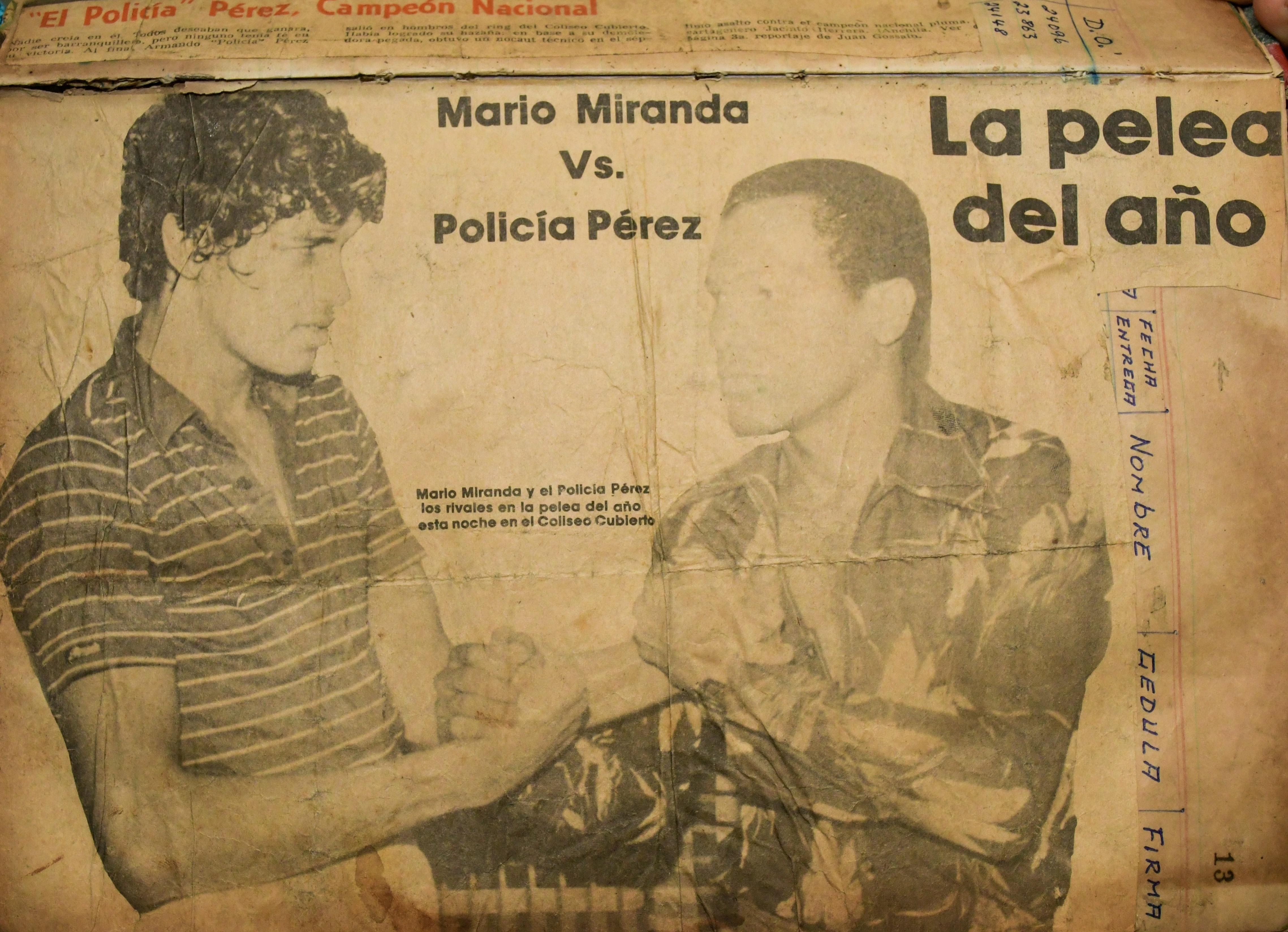Así se promocionó la pelea entre Mario Miranda y Armando 'el Policía' Pérez.