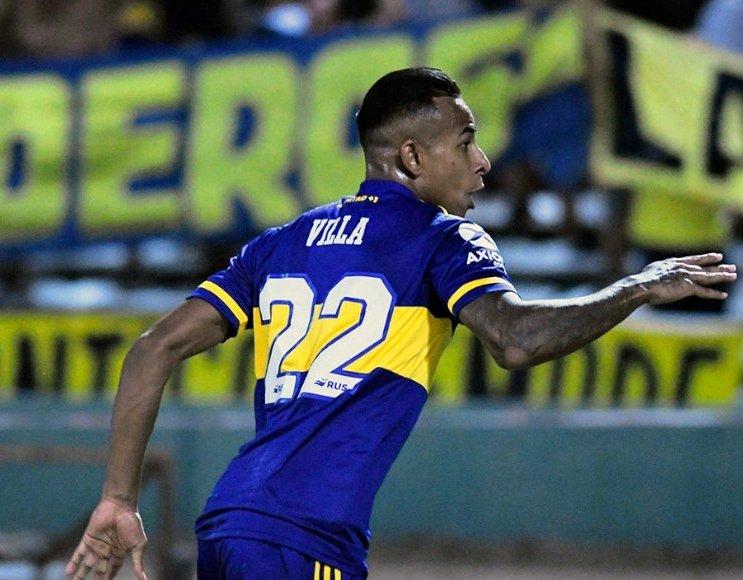 Sebastián Villa anotó un gol con Boca Juniors.
