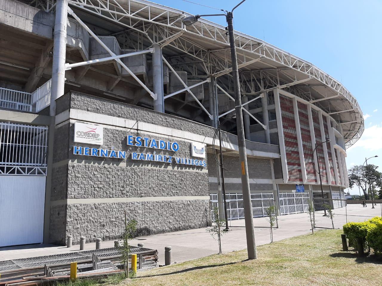 El estadio Hernán Ramírez Villegas, sede del juego.