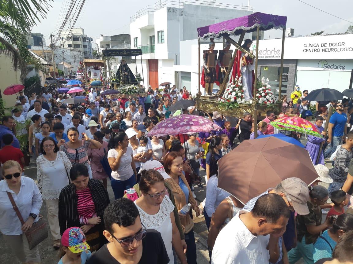 Un Viacrucis y una procesión se vivieron en Sincelejo.