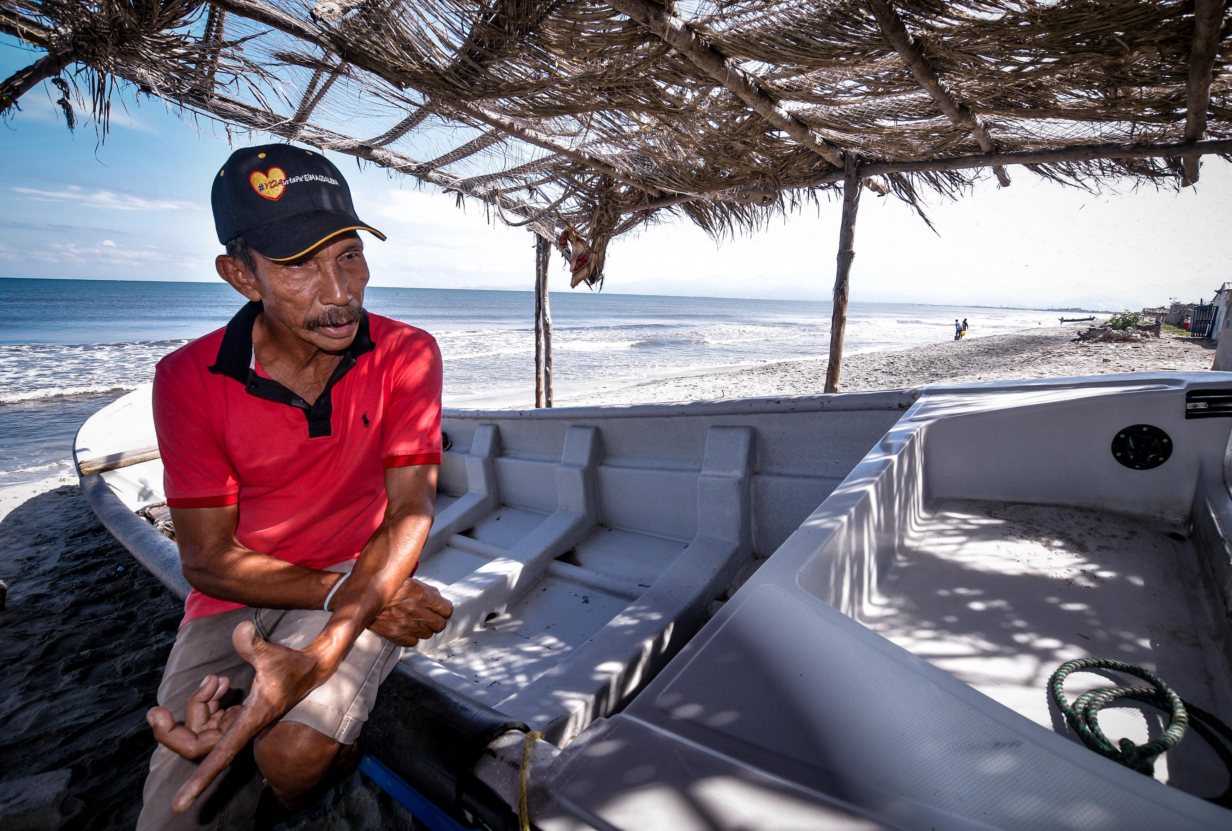 Enrique Maldonado reclama atención para Tasajera, en especial de los pesca, la principal fuente de empleo de sus habitantes.