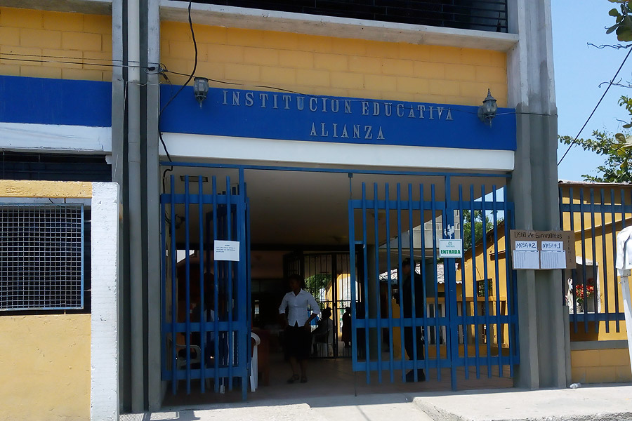 Institución educativa La Alianza en Ciénaga.
