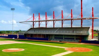 Estadio de béisbol en Repelón.