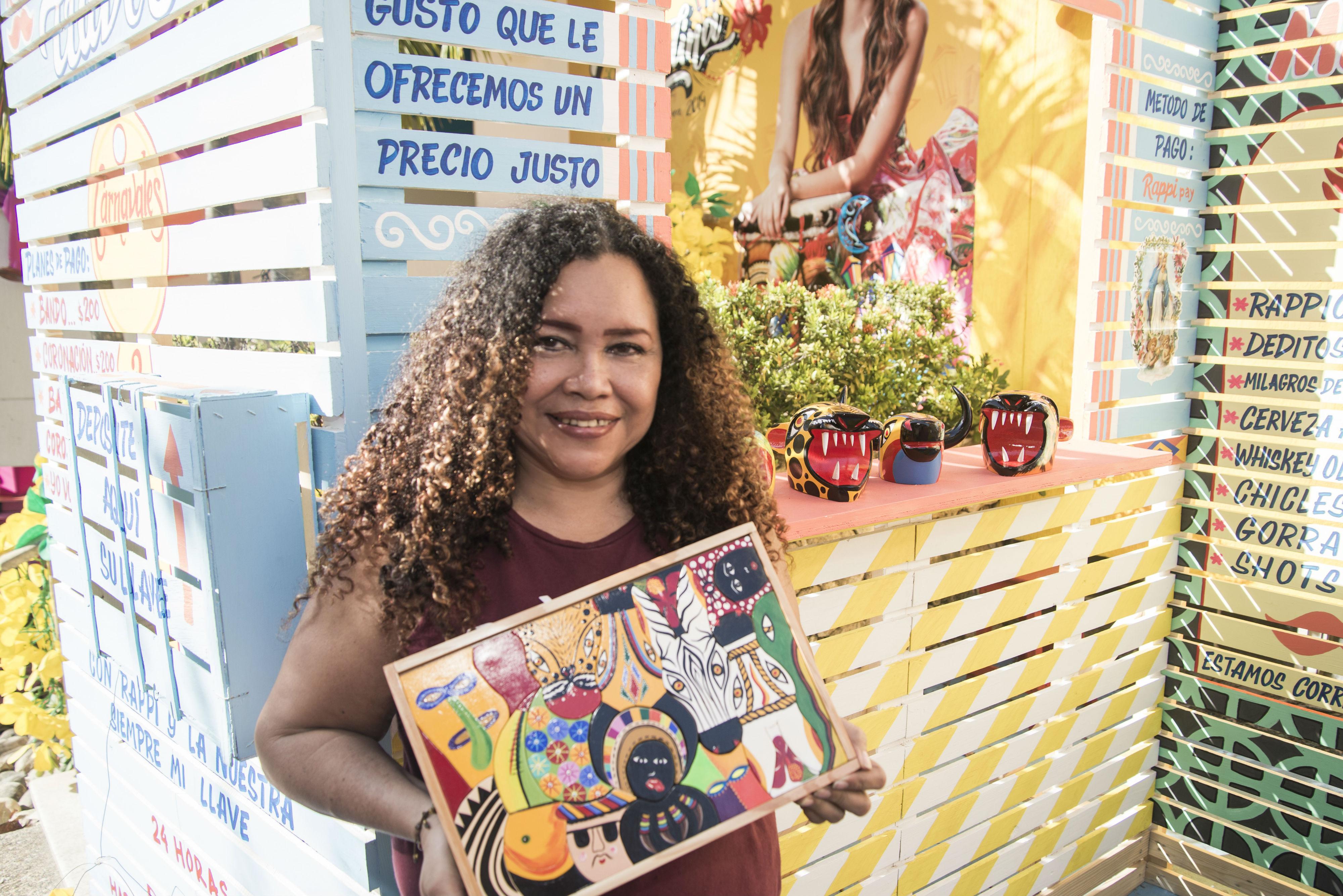 Eunice Pertúz, artesana nacida en Galapa.