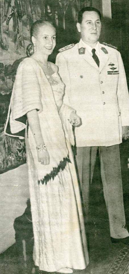 Eva Duarte y Juan Domingo Perón.
