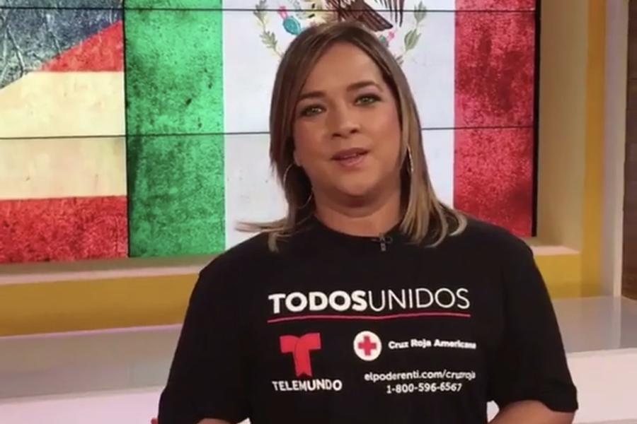 Adamaris López se ha mostrado muy conmovida con la situación de nuestros hermanos de Puerto Rico y México.