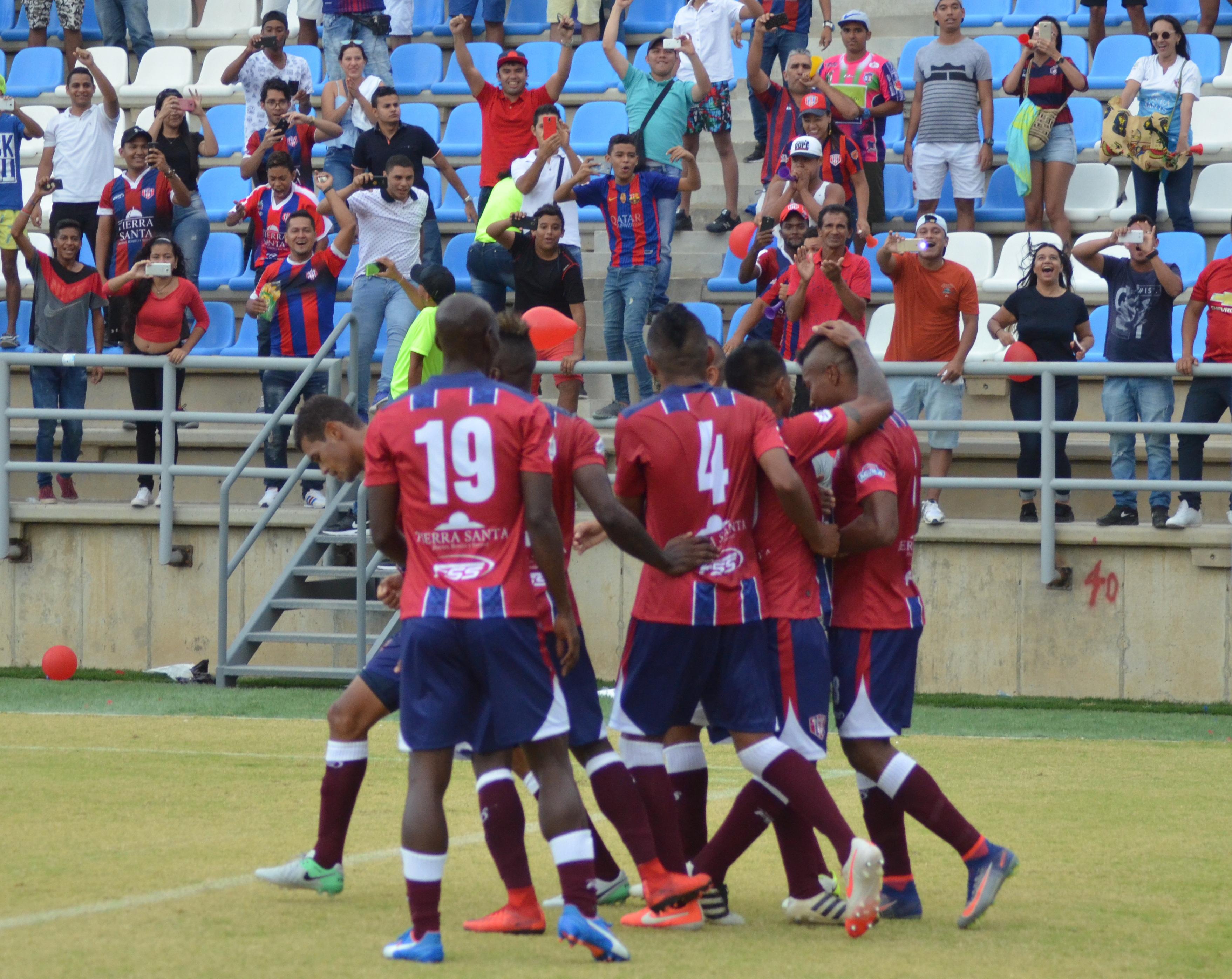 El festejo de los jugadores del Unión Magdalena.